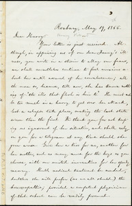 Letter from William Lloyd Garrison, Roxbury, [Mass.], to Henry Villard, May 19, 1866