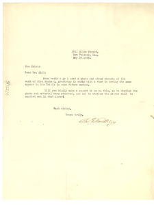 Letter from A. E. Perkins to Crisis
