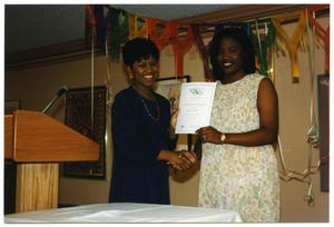 Two Women at Service to Youth Award Program San Antonio Chapter of Links Records