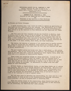 """Address by Mr. Tomlinson D. Todd, Director of the """"Americans All"""" Radio Program and President of the Institute on Race Relations"""