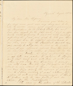 Letter from Lucia S. Russell, Plymouth, [Massachusetts], to Maria Weston Chapman, 1840 August 19
