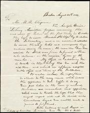 Letter] To Mrs. M. W. Chapman [manuscript