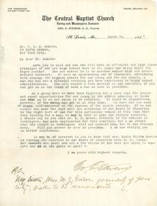 Letter from George E. Stevens to W. E. B. Du Bois