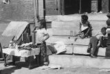 View of young children at the Maxwell Street Market