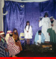 Nativity scene presented by costumed children