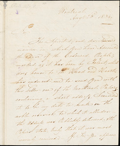 Letter from Alexander Grant, Montreal, [Quebec], to William Lloyd Garrison, 1834 Aug[us]t 25th