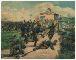 Charge of the colored troops ; San Juan