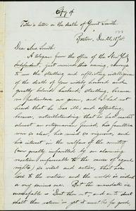 Letter from William Lloyd Garrison, Boston, [Mass.], to Ann Carroll Fitzhugh Smith, Dec. 28, 1874
