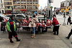 Valentine's Day gifts and PPE, Malcolm X Blvd. at W. 125th St., Harlem