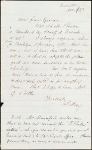 Letter from Samuel May, Jr., Leicester, [Mass.], to William Lloyd Garrison, Jan[uary] 17 / [18]72
