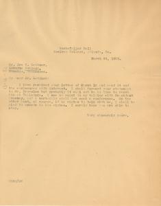 Letter from W. E. B. Du Bois to Ira H. Latimer