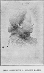 Mrs. Josephine A. Silone Yates. Scientist, Educator, Writer, known as Mrs. R.K. Potter