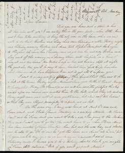 Letter from Lucia Weston, [Weymouth, [Mass.], to Emma Forbes Weston, Oct. [4, 1841], Monday