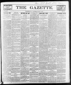 Thumbnail for The Gazette. (Raleigh, N.C.), Vol. 9, No. 12, Ed. 1 Saturday, May 8, 1897 The Gazette The Weekly Gazette
