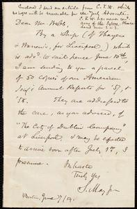 Letter from Samuel May, Boston, to Richard Davis Webb, June 7 / 59