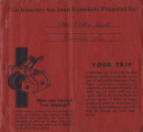 Althea Hurst scrapbook, 1938. Page 72. Provident Travel Service red itinerary