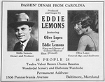 Dashin' Dinah from Carolina produced and staged by Eddie Lemons featuring Olive Lopez and Eddie Lemons king and queen of colored musical comedy. [advertisement]