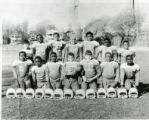 The Kirk Park Colts. Carmen Harlow is holding the ball.