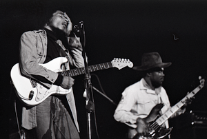 Bob Marley and the Wailers at Paul's Mall: Marley with Aston Barret (bass)