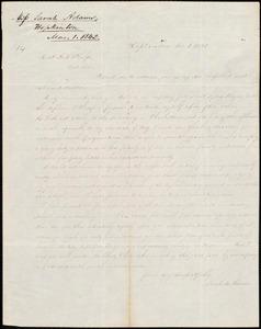 Letter from Sarah Ann Adams, Hopkinton, to Amos Augustus Phelps, Mar 1 1842