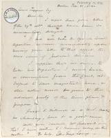 Letter from Ellis Gray Loring to Lewis Tappan
