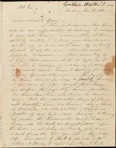 Letter from Caroline Weston, Roxbury, [Mass.], to Maria Weston Chapman and Henry Grafton Chapman, Jan. 15[-20], 1841