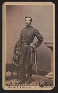 [Lieutenant Aaron F. Walcott of 2nd Massachusetts Light Artillery Battery and 3rd Massachusetts Light Artillery Battery in uniform with sword]
