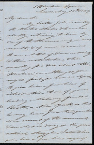 Letter from Joseph Lupton, Leeds, [England], to John Bishop Estlin, May 28th, 1849