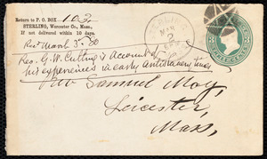 Envelope to Samuel May, Sterling, [Mass.], March 2, 1880