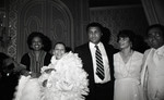 Muhammad Ali posing with Diane Watson and others, Los Angeles, 1982