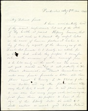 Letter to] My Beloved friend [manuscript