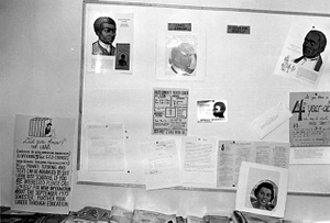 Bulletin board at Institute of Afro-American Awareness, Duluth.