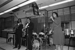 Crenshaw Chamber of Commerce event with musicians performing, Los Angeles, 1983