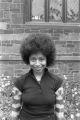 Alice Walker: Outside by church. New Haven, Conn. (AWaP 1-76-4 #76/77)