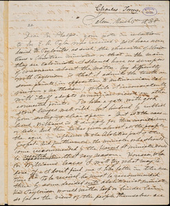 Letter from Charles Turner Torrey, Salem, [Mass.], to Amos Augustus Phelps, 1838 March 15th