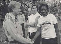 Cornelia Bailey with Jimmy Carter