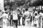 Group prayer, Los Angeles, 1983