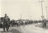 Marchers in Montgomery during the Selma to Montgomery March.