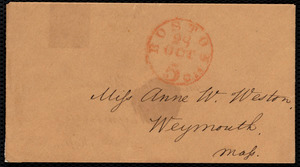 Letter from Samuel May, [Boston, Mass.], to Anne Warren Weston, Tuesday, Oct. 3'd, [1848]