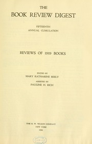 Book review digest, 1919 v.15