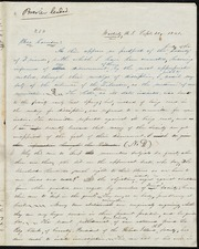 Letter to] Bro[ther] Garrison [manuscript