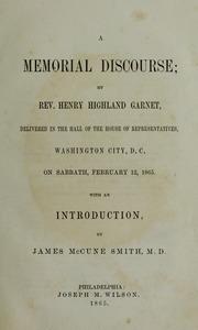A memorial discourse