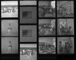 Set of negatives by Clinton Wright including Doolittle Elementary girls' tournament, Mr. Matthew's class at Westside, and health poster contest winner, 1967