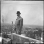 Cass Gilbert on roof of State Capitol