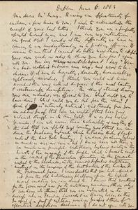 Letter from Richard Davis Webb, Dublin, to Samuel May, June 11, 1863