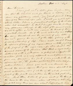 Letter from Quincy Edmund, Dedham, [Massachusetts], to Maria Weston Chapman, 1841 Feb[ruary] 25