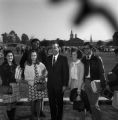 Governor Albert Brewer with students on the campus of Samford University in Birmingham, Alabama.