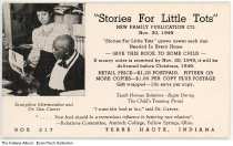 """""""Stories for Little Tots"""" book advertisement, Terre Haute, Indiana,1949"""