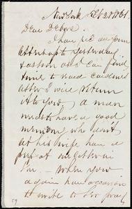 Letter from Richard Warren Weston, New York, to Deborah Weston, Feb. 28, 1861