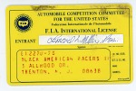 F.I.A. International license for Leonard W. Miller, president and owner of the Black American Racers team, 1975
